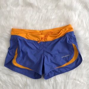 🧚‍♀️ patagonia blue/gold athletic shorts 🧚‍♀️